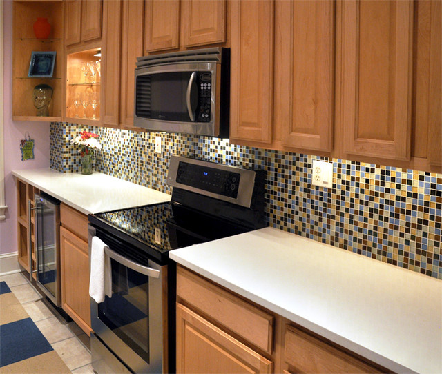 New countertops & appliances traditional-kitchen