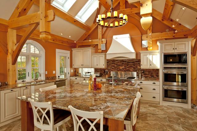 Superbe Elegant Kitchen Photo In Portland Maine With Granite Countertops