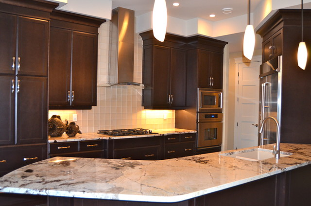 dark stained kitchen cabinets new custom maple cabinets dark stain traditional