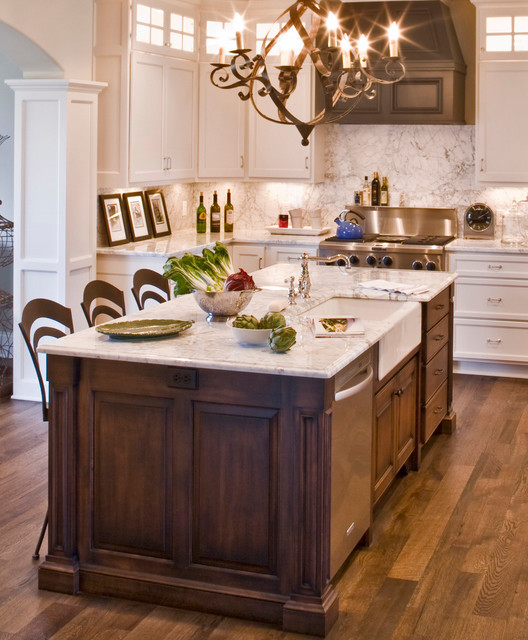 Kitchen Classical Colonial Kitchen Design With Island For: New England Colonial