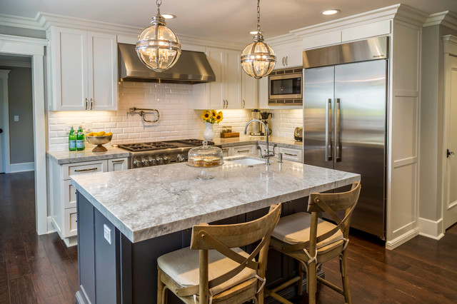 New England Colonial Remake - Traditional - Kitchen - san francisco ...