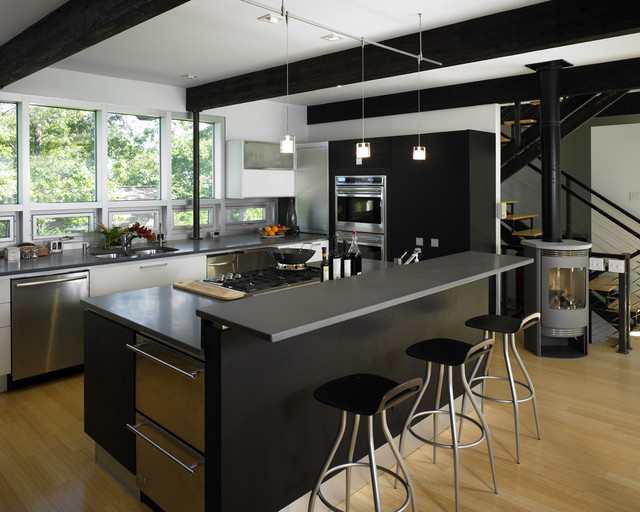 New England Contemporary Kitchen contemporary-kitchen