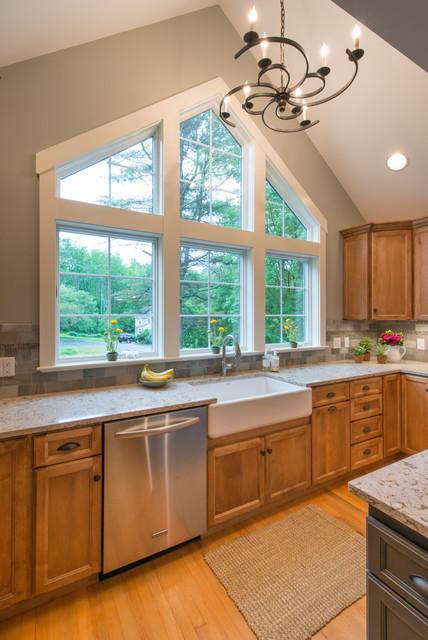 New england kitchen renovation transitional kitchen for New england kitchen designs
