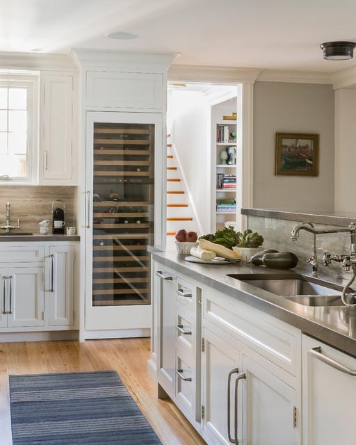 New England Ocean View Beach Style Kitchen Boston