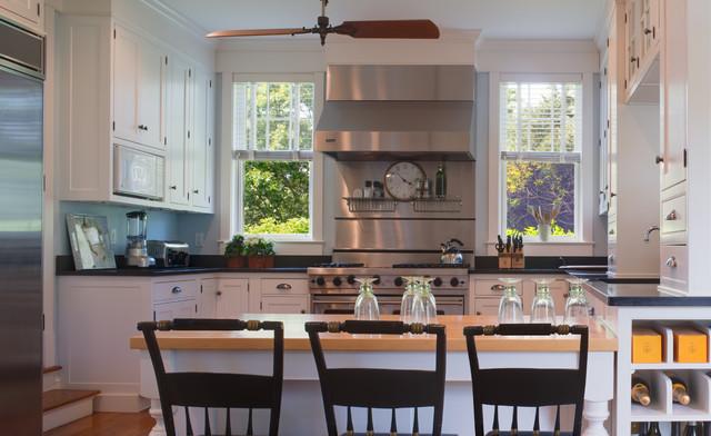 New england shingle house beach style kitchen other for New england style kitchen