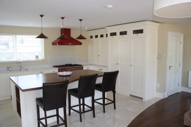 new england style handpainted kitchen modern-kitchen