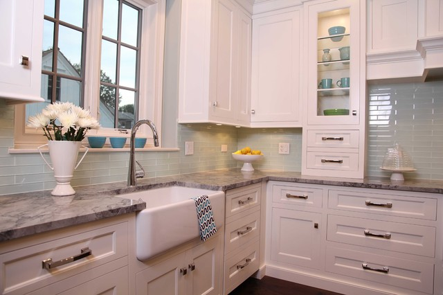 New England Style Home Traditional Kitchen