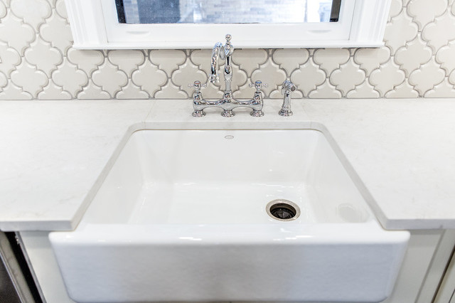 Over Counter Farmhouse Sink : New Farmhouse Sink with Caesarstone London Grey Counter Tops farmhouse ...