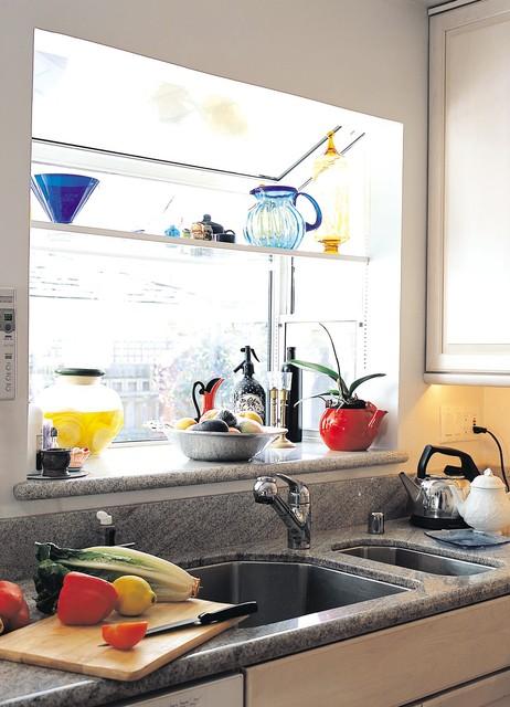 new garden window traditional-kitchen