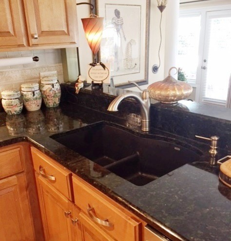 New Granite Countertops With Blanco Silgranit Sinks