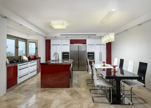 New home in Israel eclectic-kitchen