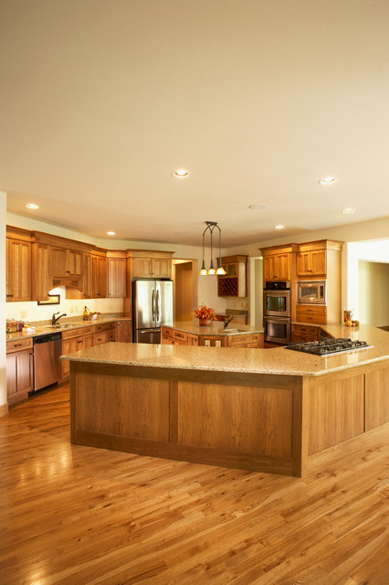 New Home Rustic Kitchen Cedar Rapids By Sattler Homes Remodeling