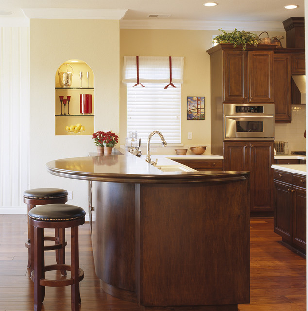 New Kitchen Eating Area Compliments Existing Kitchen Traditional Kitchen