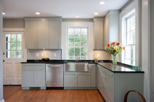 some homeowners & house styles want a sleek, modern kitchen cabinet style