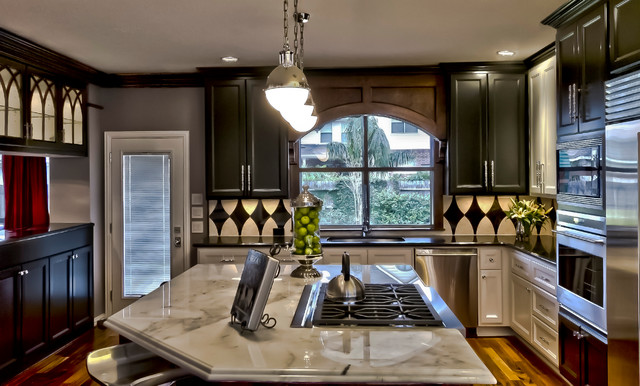"New Orleans Themed"" Kitchen And Baths - Transitional - Kitchen"