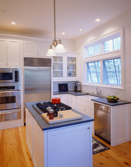 New Sea Captain 39 S House Traditional Kitchen Portland Maine By Dwight M Herdrich