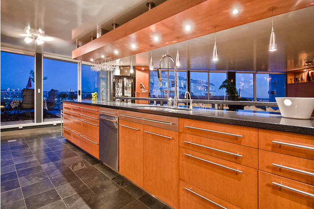 New Westminster Penthouse contemporary-kitchen