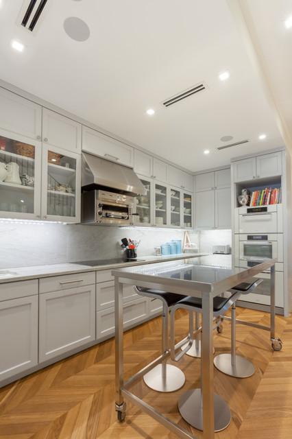 New york brownstone modern kitchen new york by for Modern kitchen design new york