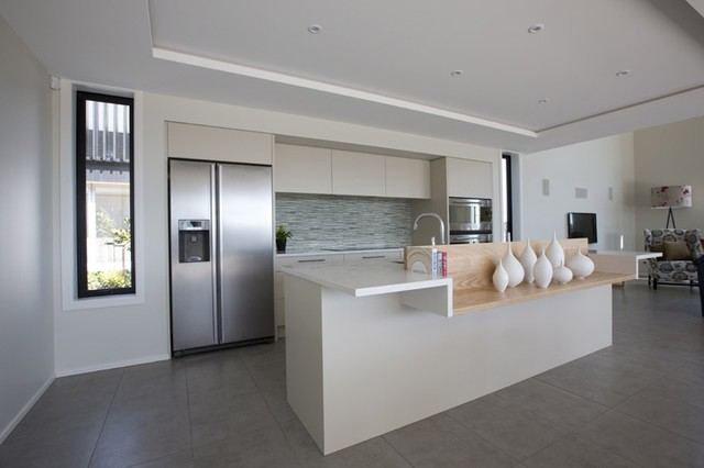 New York Cemento Tiled Kitchen amp Dining Area 3 Lombardia Way Karaka Contemporary kitchen