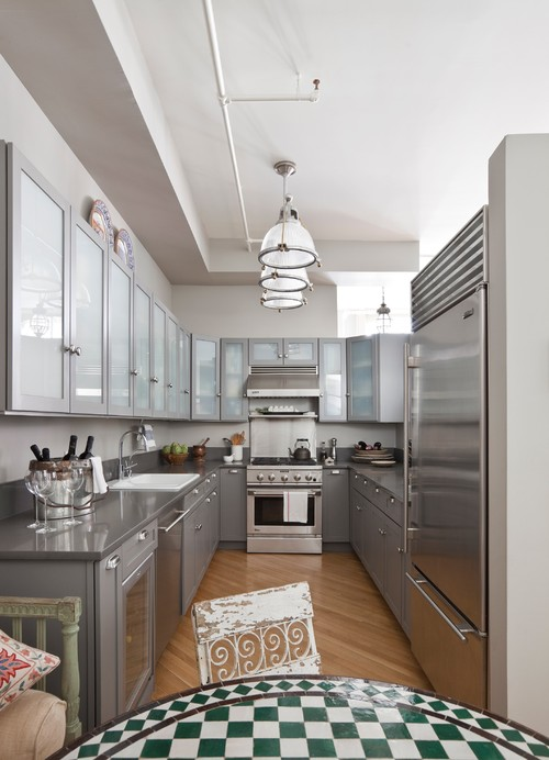 Gray Tones with Dark Cabinetry