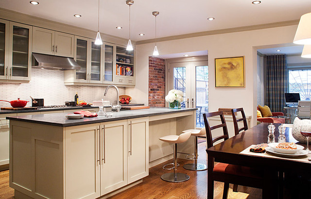 New York City Townhouse Traditional Kitchen