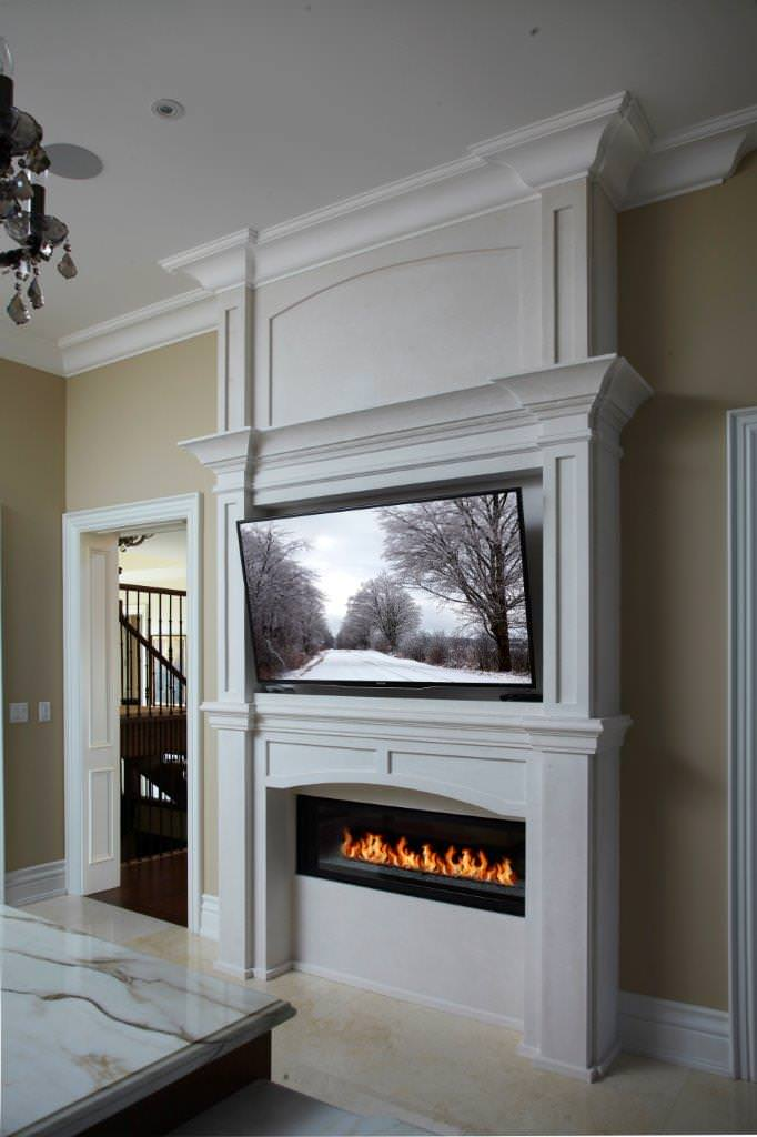 Linear Fireplace Mantle Ideas Photos Houzz