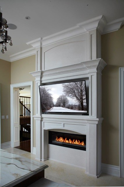 new york linear fireplace mantel transitional kitchen. Black Bedroom Furniture Sets. Home Design Ideas