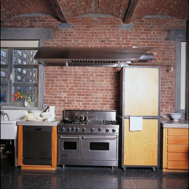 New york loft eclectic kitchen new york by for New york loft kitchen design