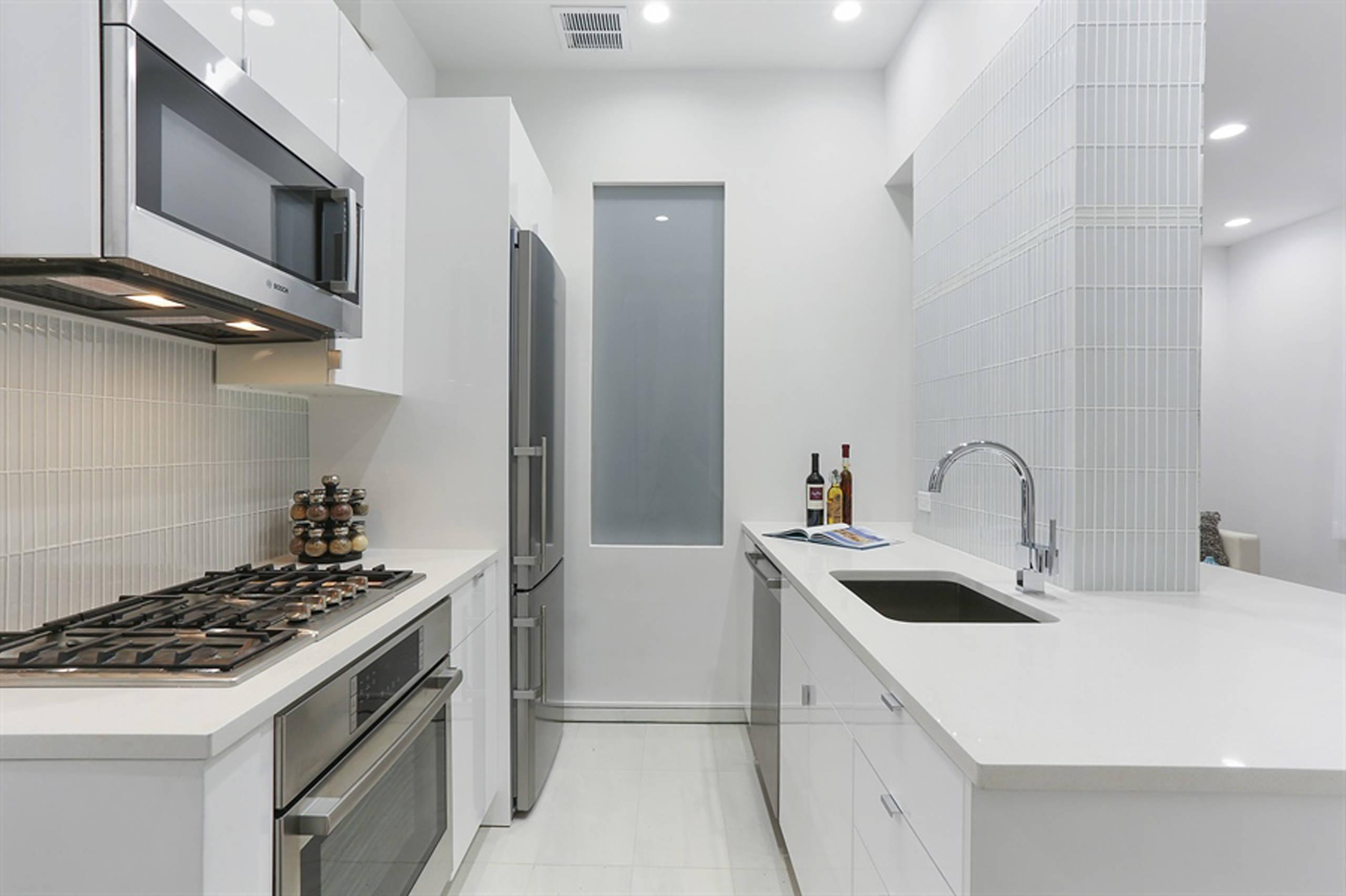 Modern Galley Kitchen Update NYC
