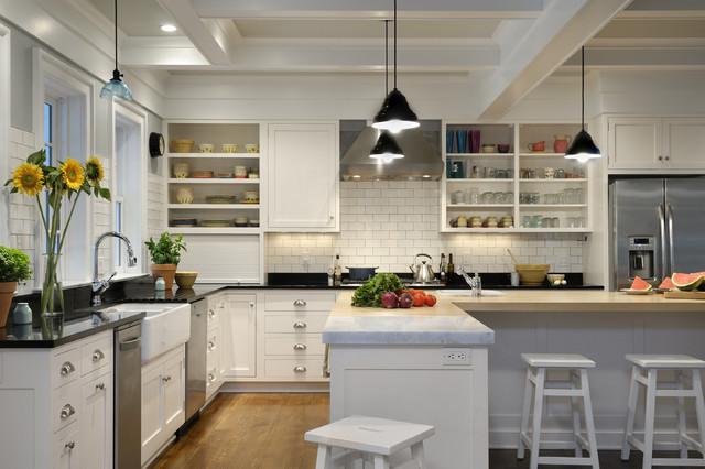 New York Transformation farmhouse-kitchen
