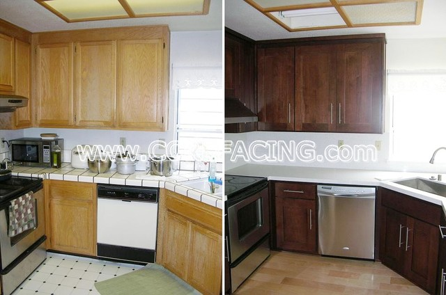 Newark Kitchen Reface 1 - Modern - Kitchen - san francisco - by Custom Cabinet Refacing