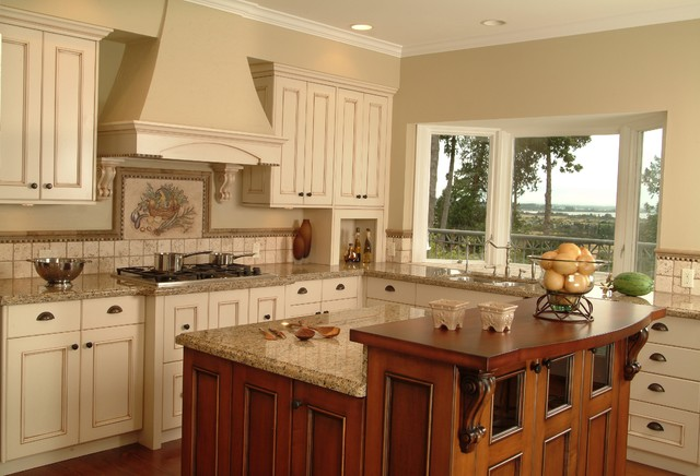 Country kitchen cabinets home design and decor reviews for Country kitchen cabinets