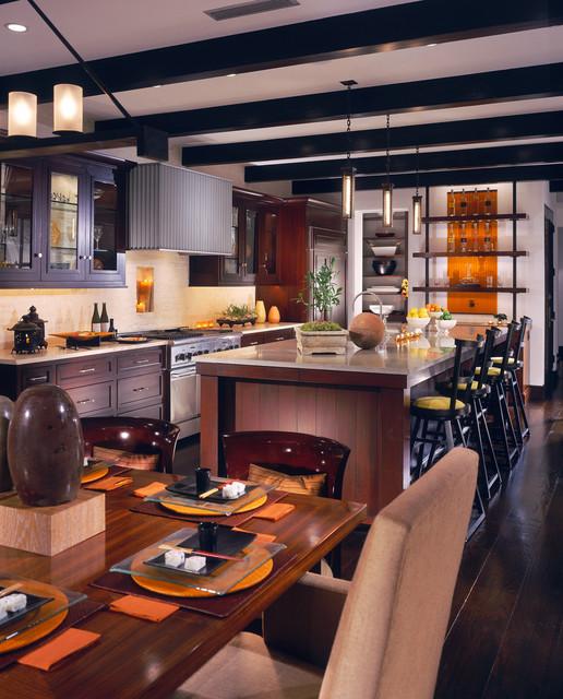 Newport Beach Custom Home 02 tropical-kitchen