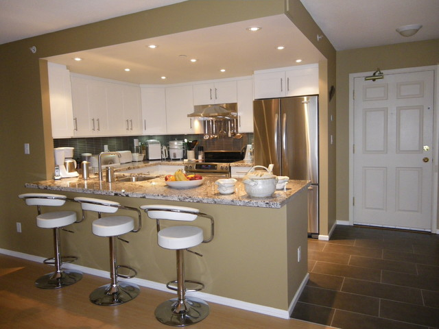 Newport condo contemporary kitchen vancouver by for Small kitchen designs for condos