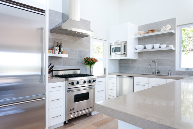 Large Tile Backsplash Houzz
