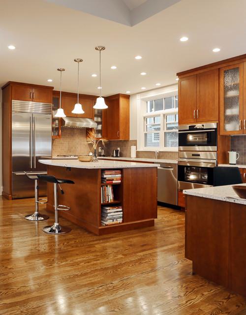 Newton kitchen remodel contemporary kitchen boston for 9x11 room design