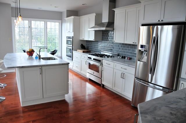 Newtown square pa kitchen transitional kitchen for Square kitchen designs
