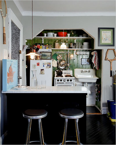 Eclectic Kitchens: Country House Checklist: The Tiny Kitchen