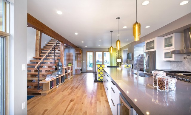 Attractive Pendant Light Fixtures In The Denver Shield House Contemporary Kitchen Nice Look