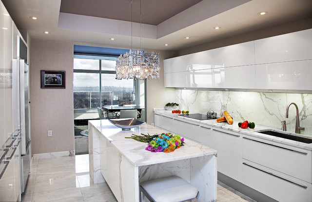 NJ Kitchen With NYC View