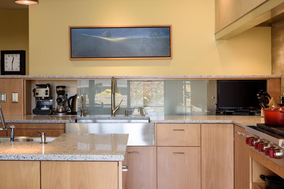 No Wall Cabinets Contemporary - Contemporary - Kitchen ...