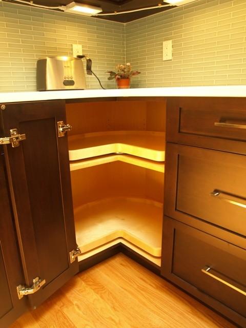 Transitional Espresso Shaker Style - Mendham, NJ - Transitional - Kitchen - New York - by ...