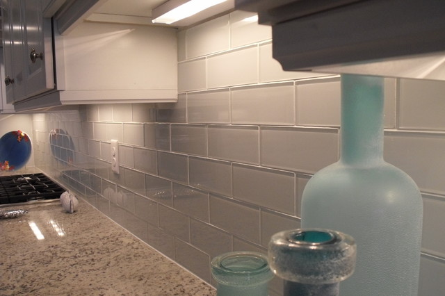 Nocatee Glass Backsplash Beach Style Kitchen Jacksonville By Eberling Design