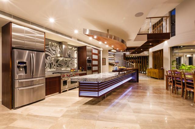 Noosa Sound Residence Tropical Kitchen Brisbane