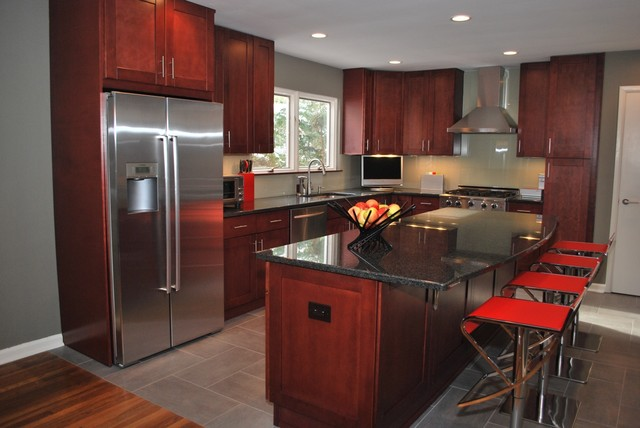 North caldwell new jersey shaker style kitchen for Contemporary shaker style kitchen