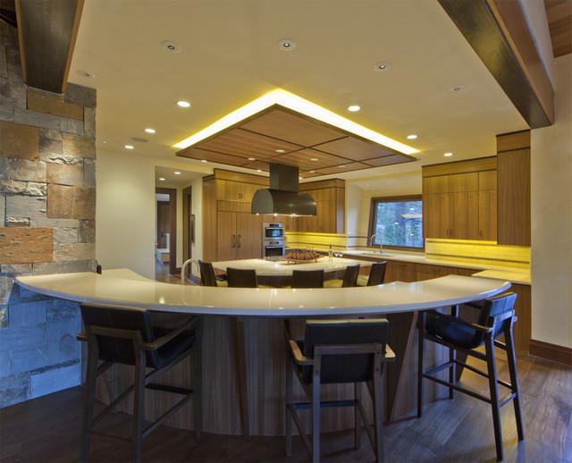 North Lake tahoe Residence rustic-kitchen