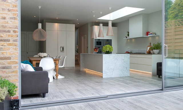 Kitchen Tiles London north london townhouse - contemporary - kitchen - london -