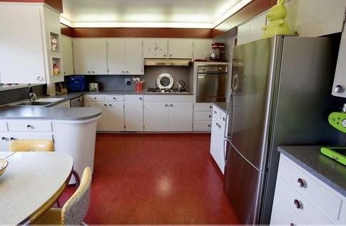 north portland mid century - kitchen modern-kitchen