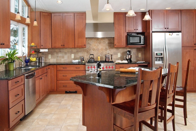 North Royalton Addition and Kitchen renovation - Traditional - Kitchen - Cleveland - by Artistic ...