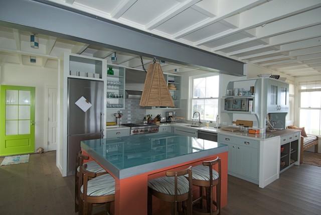 North Shore Beach House beach-style-kitchen
